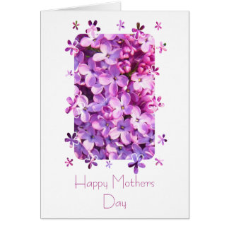 Lilac Flowers Mothers Day Card