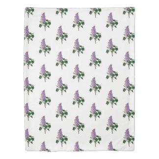 Lilac Flowers Pretty Garden Floral Pattern Duvet Cover