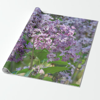 Lilac flowers wrapping paper