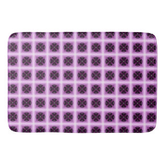 Lilac Geometric Crop Circle Bathroom Mat