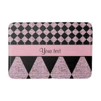 Lilac Glitter Checkers & Diamonds Bath Mat