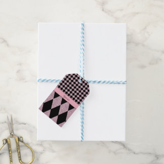 Lilac Glitter Checkers & Diamonds Gift Tags