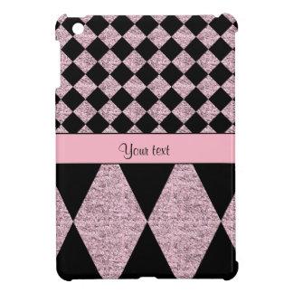 Lilac Glitter Checkers & Diamonds iPad Mini Cover