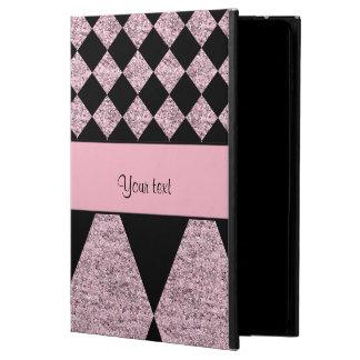Lilac Glitter Checkers & Diamonds Powis iPad Air 2 Case