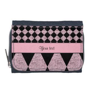 Lilac Glitter Checkers & Diamonds Wallets