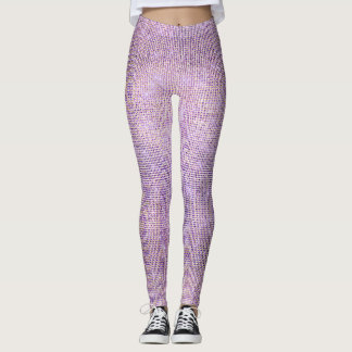Lilac Gold Plum Grill Sparkly Sequin Diamond Leggings