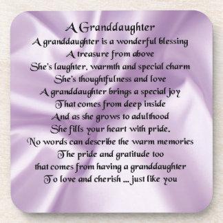lilac   Granddaughter Poem Coaster
