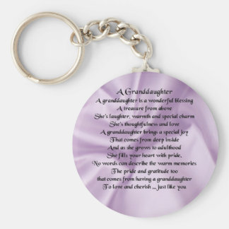 lilac   Granddaughter Poem Keychain