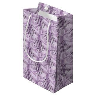 lilac   Granddaughter Poem Small Gift Bag