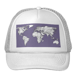 Lilac grey earth drawing hat