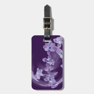 Lilac in circle luggage tag