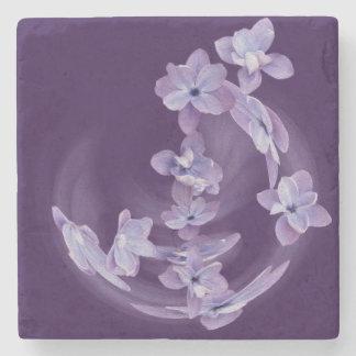 Lilac in circle stone coaster
