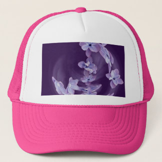 Lilac in circle trucker hat