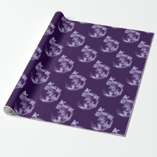 Lilac in circle wrapping paper