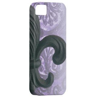 """""""lilac"""" iron fleur de lis iPhone 5 cover"""