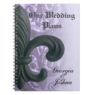 "lilac ""iron fleur de lis""  PLANNING NOTEBOOK"