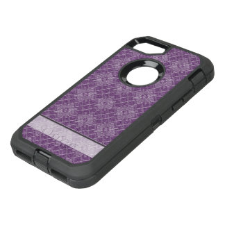 Lilac Jacquard Pattern OtterBox Defender iPhone 8/7 Case
