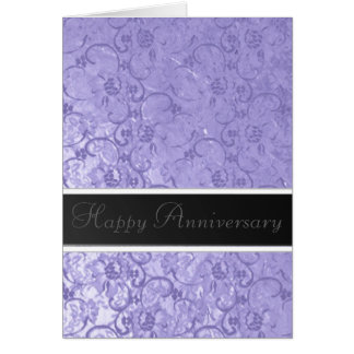 Lilac Lace Anniversary Greeting Card