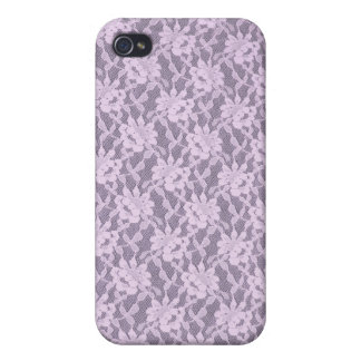 Lilac Lace iPhone 4 Matte Finish Case iPhone 4 Cover