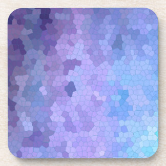 Lilac & Lavendar through Stained Glass Coaster