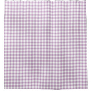 Lilac (Light Purple) White Gingham Checks Squares