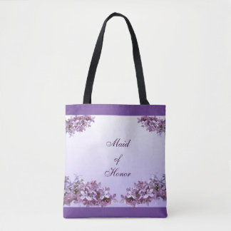 Lilac Maid of Honor Wedding Tote Bag