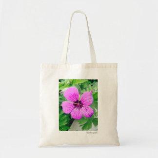 Lilac 'Marsh Cranesbill' Floral Tote Bag