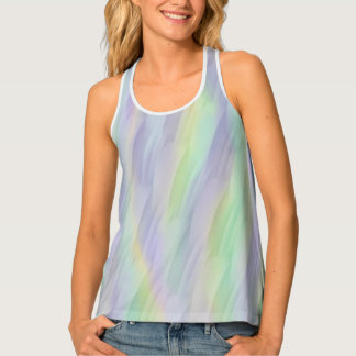 Lilac Mint Yellow Abstract Tank Top