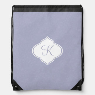 Lilac Monogram Drawstring Bag