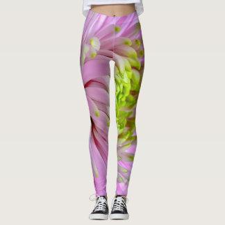Lilac mums leggings