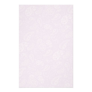 Lilac Paisley Floral Stationery