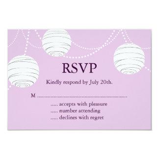 Lilac Party Lanterns RSVP 3.5x5 Paper Invitation Card