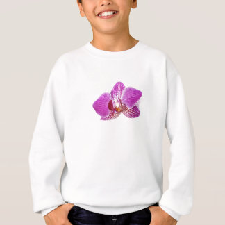 Lilac phalaenopsis floral aquarel painting sweatshirt