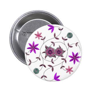 Lilac Plum Spring Flower Garden 2 Inch Round Button