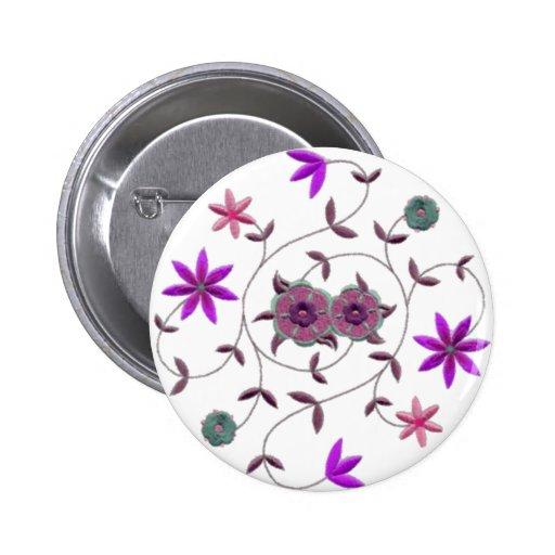 Lilac Plum Spring Flower Garden Button