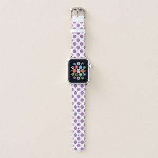 Lilac Polka Dots Apple Watch Band