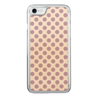 Lilac Polka Dots Carved iPhone 8/7 Case