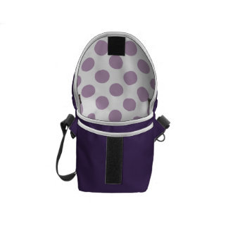 Lilac Polka Dots Courier Bag