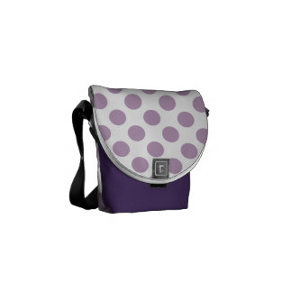 Lilac Polka Dots Courier Bags