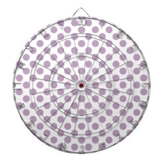 Lilac Polka Dots Dartboard