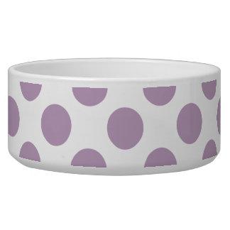 Lilac Polka Dots Dog Water Bowl