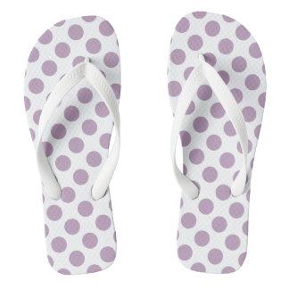 Lilac Polka Dots Flip Flops