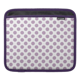 Lilac Polka Dots iPad Sleeve