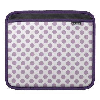 Lilac Polka Dots iPad Sleeves
