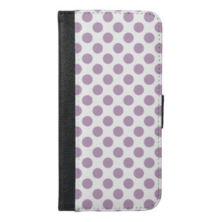 Lilac Polka Dots iPhone 6/6s Plus Wallet Case