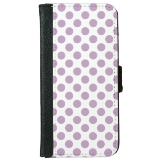 Lilac Polka Dots iPhone 6 Wallet Case