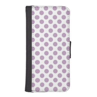 Lilac Polka Dots iPhone SE/5/5s Wallet Case