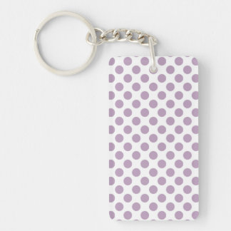 Lilac Polka Dots Keychain
