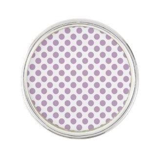 Lilac Polka Dots Lapel Pin
