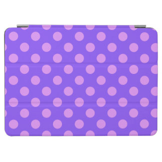 Lilac polka dots on periwinkle iPad air cover